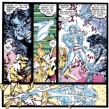This is a lot creepier if you remember that the Shadow King took over Jean permanently in one of the earths Excalibur visited... (Uncanny X-Men #273)
