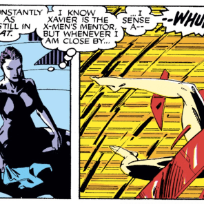 I know this is supposed to be sinister, but it's also kind of hilarious. (You gotta imagine the YOINK SFX in the second panel.) (Uncanny X-Men #275)