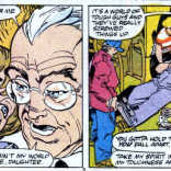 """How did your grandpa die, Zackery?"" ""Narrative necessity."" (Marvel Comics Presents #16)"