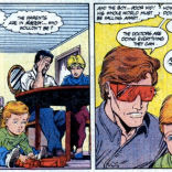 Cyclops may be a jerk to adults, but he's canonically pretty decent with little kids. (Marvel Comics Presents #18)