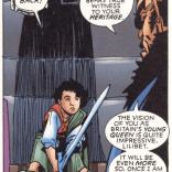 I don't know what the Sword of Scone is, but it sounds DELICIOUS. (X-Men: True Friends #3)