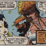 I spent hours combing through and comparing Shatterstar's use of numbers in this arc. If you are expecting a useful revelation to follow that, you're out of luck. (X-Force #2)