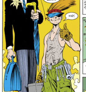 Horatio Cringebottom and Bert. (Excalibur #42)