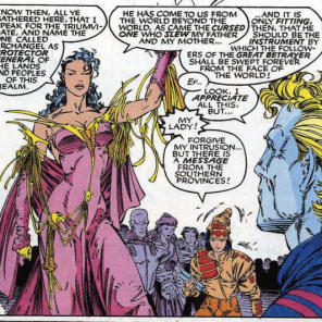 We give Portacio a lot of grief over his costume designs, but this one is really cool. (Uncanny X-Men #285)