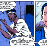"""You can tell, because of his mustache."" (X-Factor #76)"