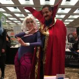 We know they're not technically X-Men, but NOBODY cosplays Clea, and when I saw this one I kind of freaked out, and she was very gracious about it. (Dr. Strange is okay, too, I guess. But CLEA!)