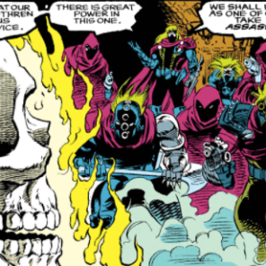 TBH, those outfits are pretty understated by Assassins Guild standards. (Ghost Rider #26)