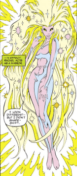 Meggan's true form has SERIOUS hair. (Excalibur #46)