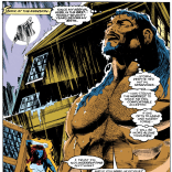 Hanging out naked in the rain? This dude is DEFINITELY learning the ropes from Storm. (Uncanny X-Men #280)