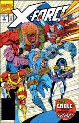 LOOK AT ALL THOSE POUCHES. (X-Force #8)