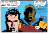 On one hand: Mignola is great. On the other hand: I have some questions about the decision to just straight-up draw Garrison Kane as Marlon Brando. (X-Force #8)