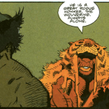 "I'm really just including this panel for the phrase ""great rogue honker."" (Wolverine: The Jungle Adventure)"