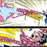 This is pretty much what happened the one time I tried to play a harmonica. (X-Factor #80)