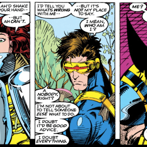 I mean, one of them is definitely not playing a part. (X-Men #10)