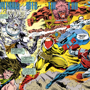 If I were a better person, I might have pasted this together with the other half of the four-page spread... (X-Force #13)