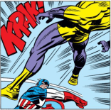 Kirby-Cap does not fuck around. (Captain America Annual #4)