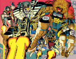There is also a lot of leaping. The early '90s were very leaping-heavy years. (Cable: Blood and Metal #1)