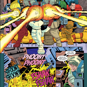 Every fight in this series is exuberantly ridiculous, and it's great. (Cable: Blood and Metal #2)