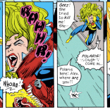 Remember like five pages ago when it was a big deal that Lorna's jaw was wired shut? (X-Factor #82)