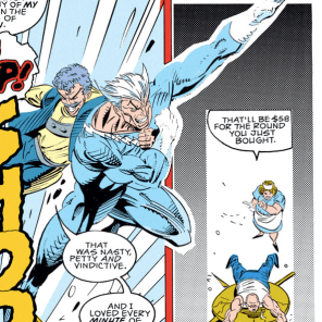 Aw, they're best friends now. Because they're both jerks. (X-Factor #83)