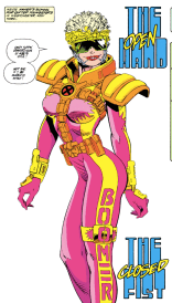 She's beauty, she's grace, she'll explode your face. (X-Force #19)