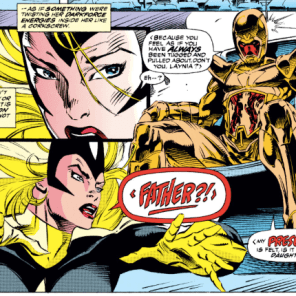 Darkstar's family is unreasonably complicated even by Marvel standards. (X-Men #17)
