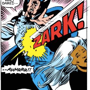 "[Eliot Spencer voice] ""It's a very distinctive sound effect."" (X-Men Annual #6)"