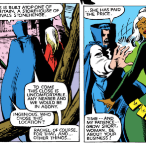 "Dracula is probably the only person who looked at a bright green catsuit and yellow pouches and thought ""stealth."" He's mysterious like that. (X-Men Annual #6)"