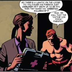 So maybe it's not so weird that Magneto's middle name is (supposedly) Magnus. (Daredevil vol. 4 #10)