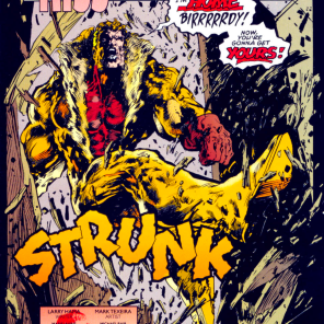 I was going to make an Elements of Style joke based on that sound effect, but it seemed like kind of a stretch. (Sabretooth: Death Hunt #2)