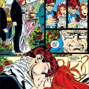 Perfect vows, part 2. (With bonus second-best-kiss-ever.) (X-Men #30)