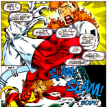 "PITCH: ""What if only Captain Britain's arms had returned from the timestream?"" (Excalibur #75)"