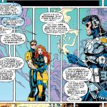"""Also, do you know how hard it was to dress you in skintight neoprene while you were unconscious?"" (X-Men #35)"
