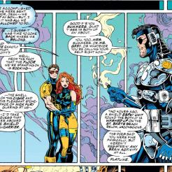 """""""Also, do you know how hard it was to dress you in skintight neoprene while you were unconscious?"""" (X-Men #35)"""