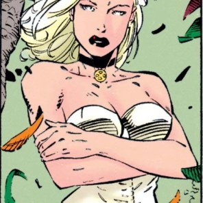 The choker really does seem to have an extra layer of symbolism, especially considering the color vs. the rest of her outfit. (Uncanny X-Men #318)