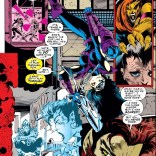 Domino's other mutation is a really complicated relationship with gravity. (X-Force #41)