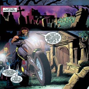 "These assholes work for a genocidal nightmare regime and yet call a graveyard ""the ghost lands."" (Tales from the Age of Apocalypse: Sinister Bloodlines)"