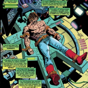 We were so baffled by the abs that we did not consider that they had been dressing him in skintight jeans and pirate boots for five years. (Tales from the Age of Apocalypse: Sinister Bloodlines)
