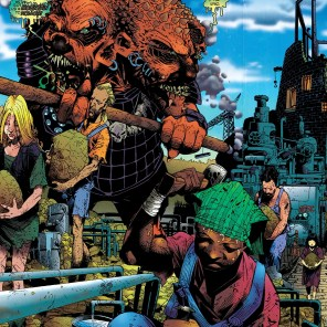 Only Chris Bachalo could make relatively normal people and monsters like that look at home in the same panel. (Generation Next #3)