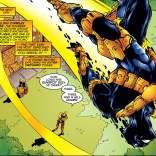 """""""Every time he seems to be ready to come down, he loses count of his pouches and has to start all over again."""" (X-Force #45)"""