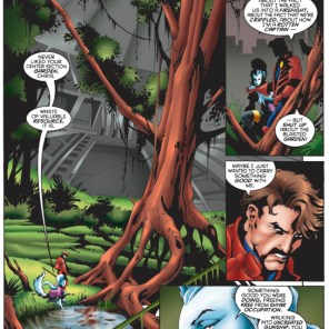 I'm kind of obsessed with that possum-looking creature in the lower left. Is it a pet? Is there more than one? Do they have population control issues? (Starjammers #3)