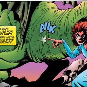 "If Penance could speak, she'd be saying ""Tee hee!"" (Generation X #9)"