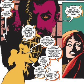 More artists should use color silhouettes--they can be such a cool effect! (Further Adventures of Cyclops & Phoenix #2)