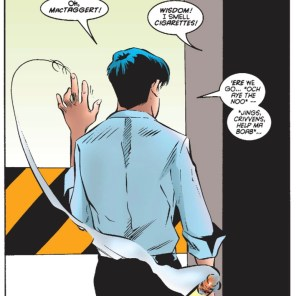 There's writing a phonetic accent... and then there's writing someone making fun of someone else's accent, phonetically. (Excalibur #91)