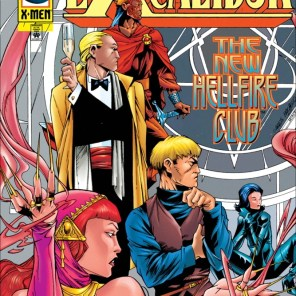 The Hellfire Club WISHES Brian bothered to show up in a tux. (Excalibur #96)