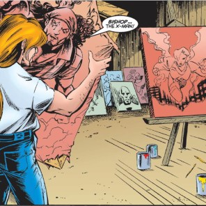Preacher needs to get better at stretching his canvases. (Uncanny X-Men Annual 1996)