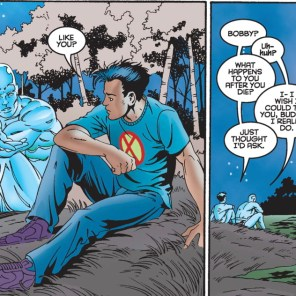 """""""They usually bring you back in a dozen or so issues. Why?"""" (X-Men Unlimited #8)"""