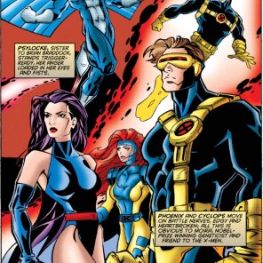 It's always fun to see how teams look in other books. (Excalibur #100)