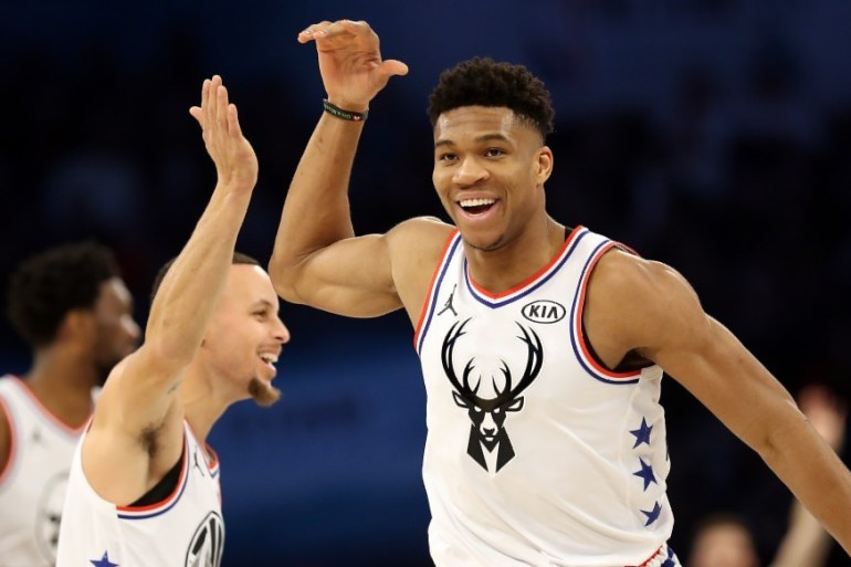 giannis antetokounmpo steph curry