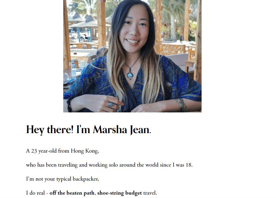 【专页】90后女生 Marsha Jean 18岁独自奔外逃命,5年环游40个国家